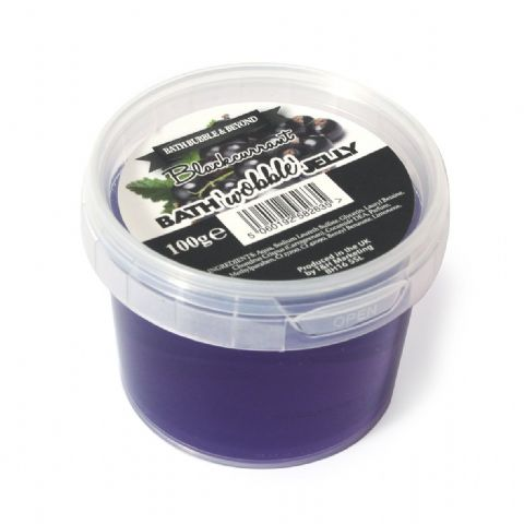 Blackcurrant Shower Bath Wobble Jelly - Bath Bubble & Beyond 100g